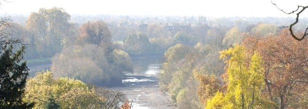 a view across Richmond on a bright autumn day