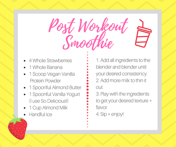 post-workout smoothie recipe