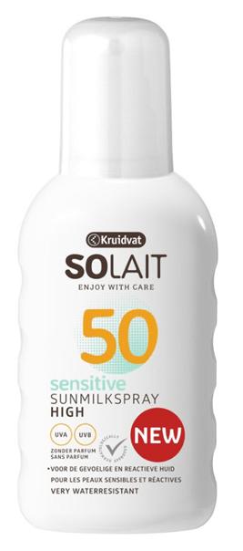 Kruidvat Solait Sensitive Sunmilkspray SPF50 - VEILIG IN DE ZON MET KRUIDVAT SOLAIT