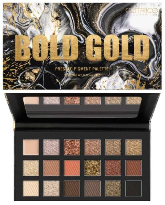 CATRICE NUDE PEONY BOLD GOLD PRESSED PIGMENT PALETTE - CATRICE LENTE / ZOMER UPDATE 2021