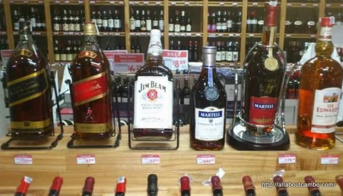 дешёвый алкоголь в Камбодже