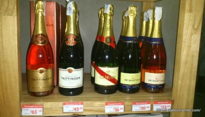 шампанское в Камбодже