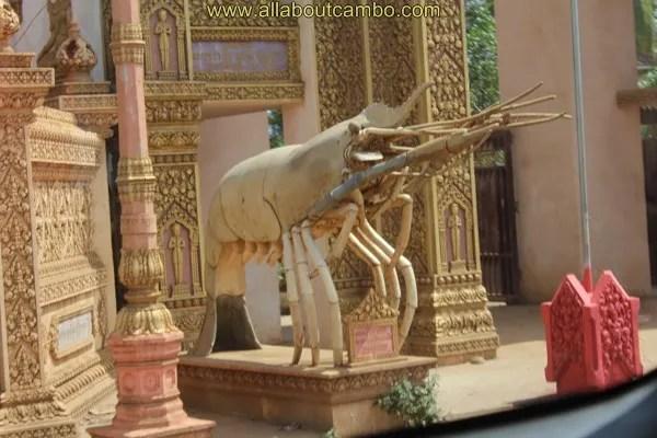 храм креветки в камбодже