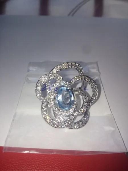 кольцо с аквамарином камбоджа