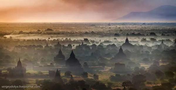 Мьянма, полет на воздушном шаре
