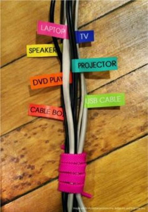 organise your desk cords