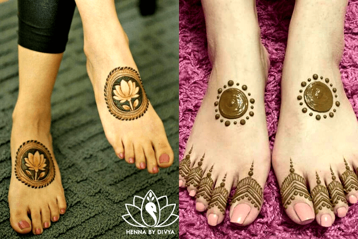 bridal mehendi designs feet