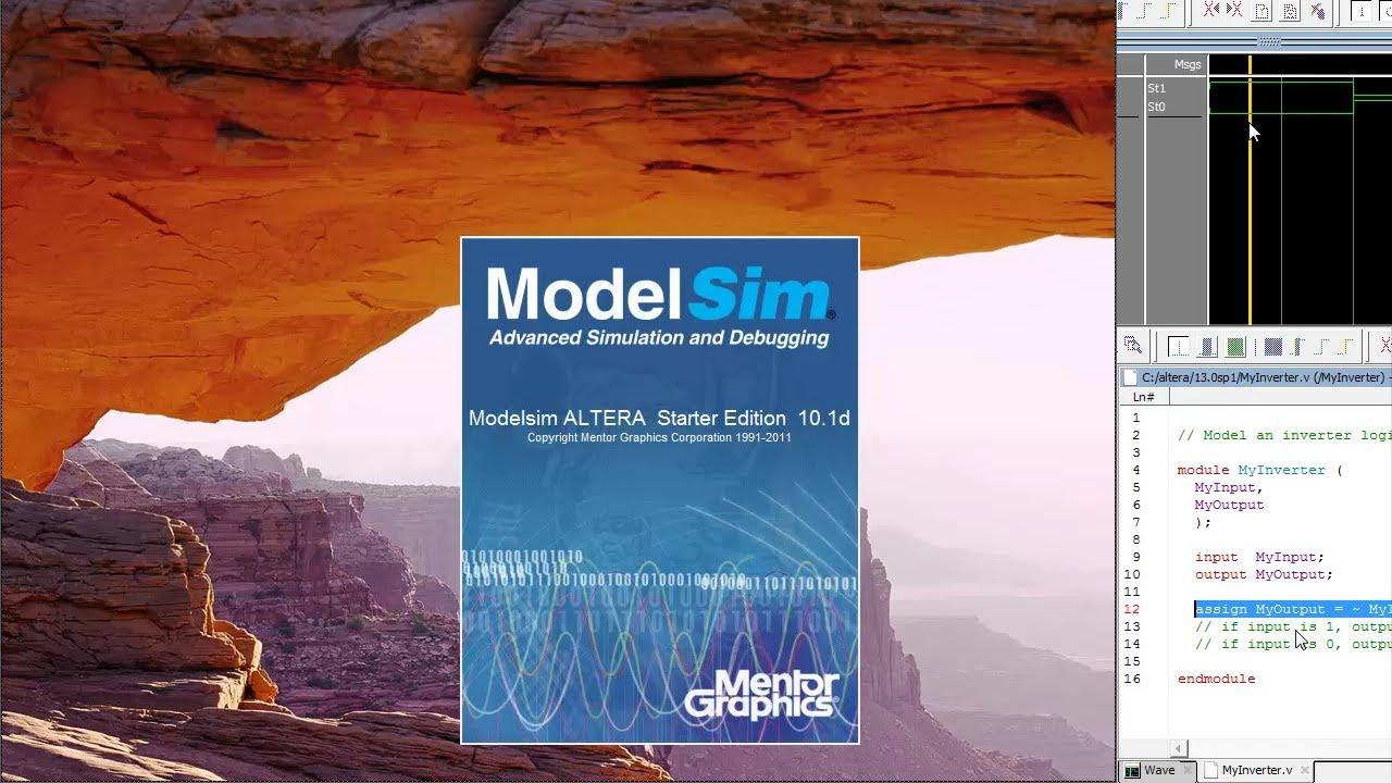 ModelSim Tutorial – Write Complie and Simulate Verilog