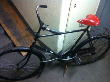 Built to last, double butted steel frame, steel rims and automotive quality rubber tires