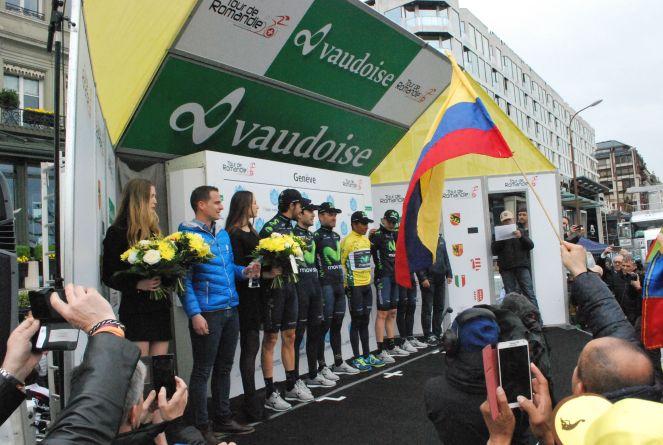Movistar won the Best Team category at the Tour de Romandie in Switzerland