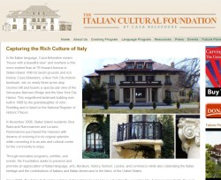 The Italian Cultural Foundation at Casa Belvedere