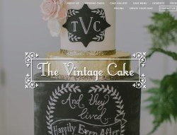 The Vintage Wedding Cake Website