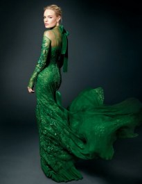 Emerald-lace-gown
