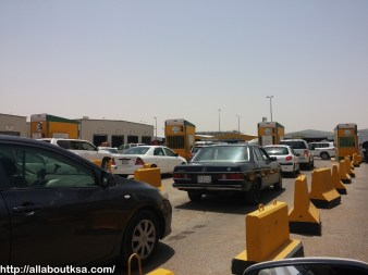 Fahas - Vehicle Queue before cash counter