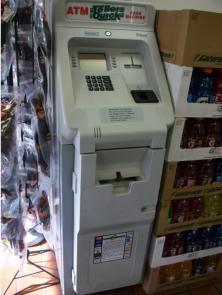 ATM safe opened