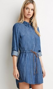 Forever 21 Life in Progress Chambray Shirt Dress