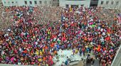 People gather between the Cross State Office Building and the Maine State House for the Women's March on Maine on Saturday Jan. 21, 2017 at the Maine State House in Augusta, Maine. IMAGE: JOE PHELAN/AP PHOTO