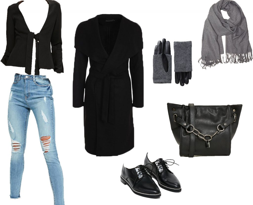 cheap online shopping blazer high waist jeans coat gloves leatherbag grey scarf shoes