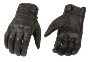Milwaukee Leather Men's Premium Leather Perforated Cruiser Gloves