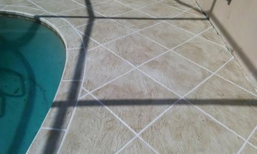 acrylic concrete deck travertine