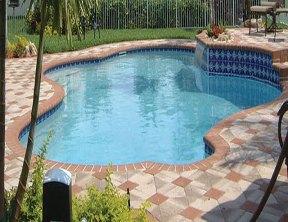 Aqua pool finish