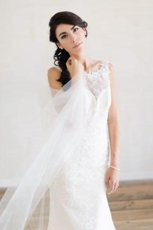 Wedding Veil | Single Tier Floor Length Veil