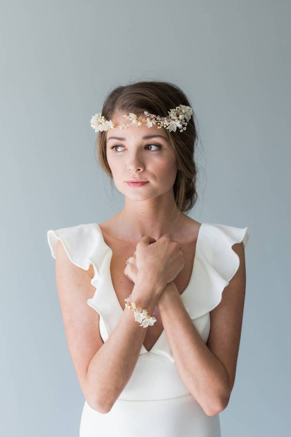 Bridal bracelet - MEADOW SWEET | Bridal Bracelet