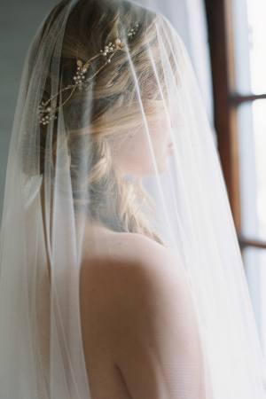 Ada | Cathedral Length Drop Veil, Wedding Veil, Cathedral Length Veil