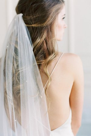 Crystal Wedding Veil with Blusher | JACINTA