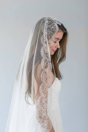 Lace Chapel Wedding Veil | ABELLA