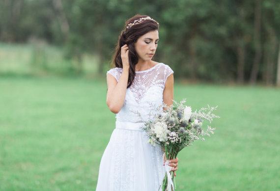 Gold Wedding Hair Vine | TANNITH