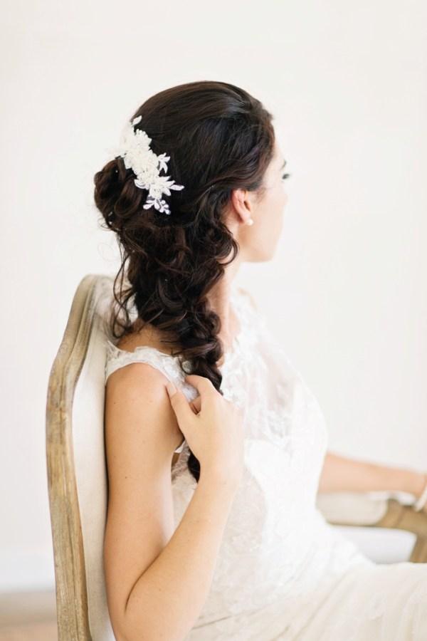 Lace Bridal Comb   BELLAMY