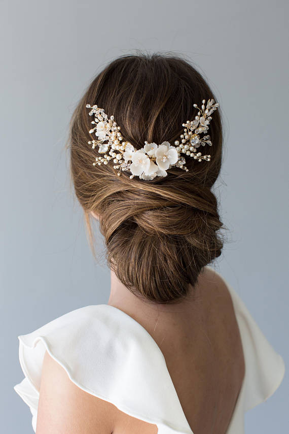 Flowering Bridal Hair Comb | HYACINTH