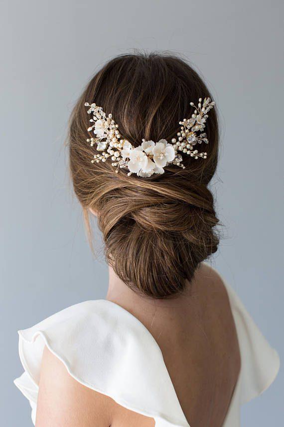 Flowering Bridal Hair Comb | HYACINTH