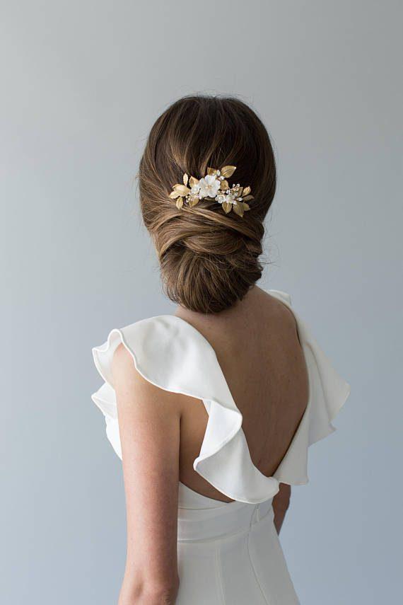 Bridal Hair Comb - OLIVE