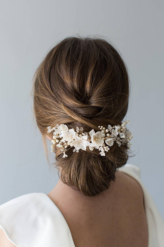 FLORAL Bridal Hair Comb | VIOLET