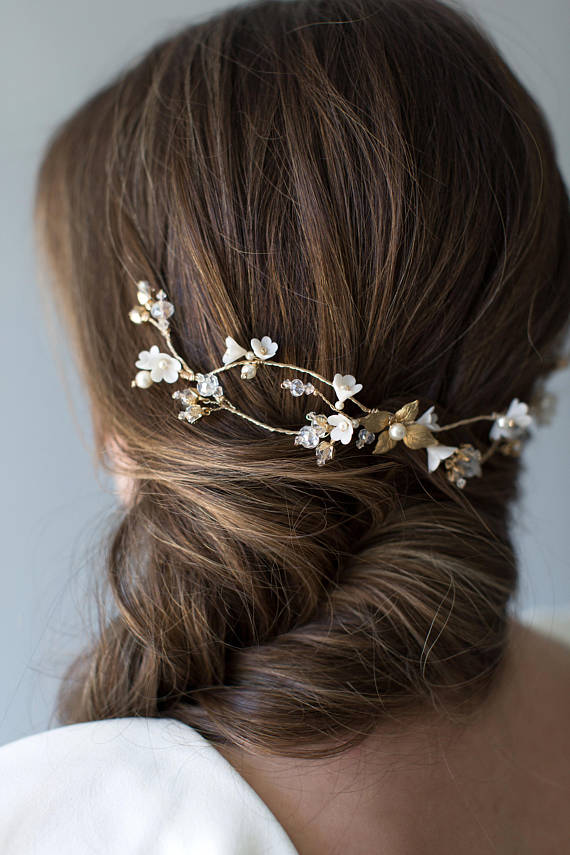 GOLD Bridal Hair Vine | TAMSYN