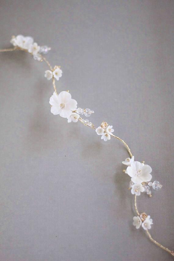 Gold Wedding Hair Vine | DAISY