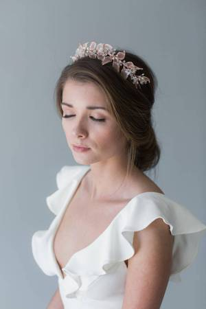 Rose Gold Leaves Headband | ROSIE