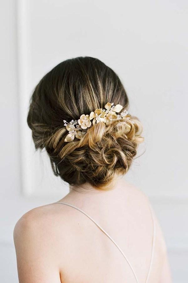 Gold Bridal headpiece - SOMERVILLE