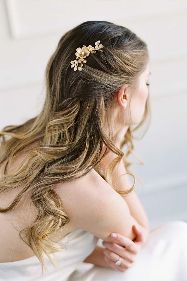 Gold Bridal Hair Comb - TRINETTA
