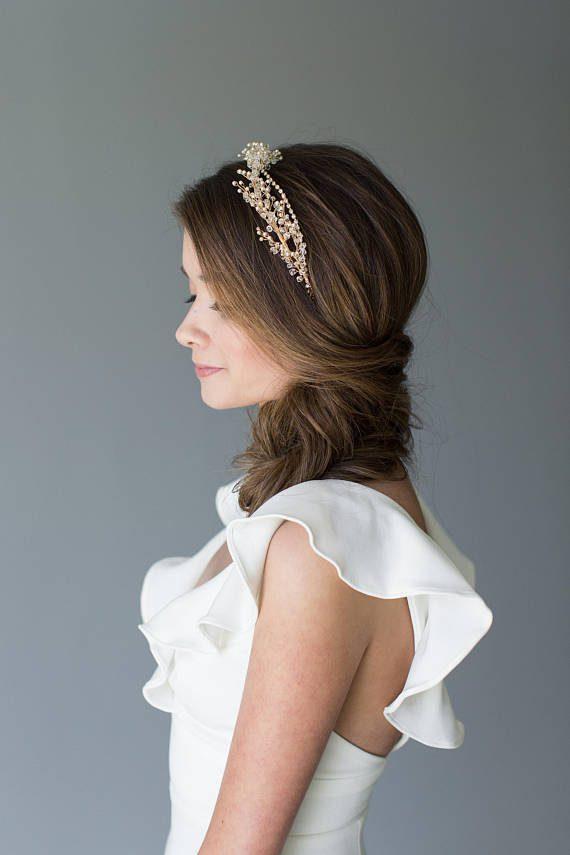 CRYSTAL Wedding HAIR PIECE  VICTORIA
