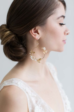 bridal jewellery, wedding jewellery, Hoop earrings