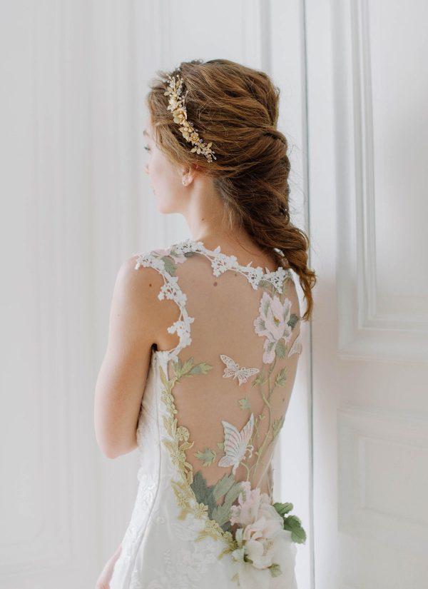 wedding hair vine, bridal hair vine