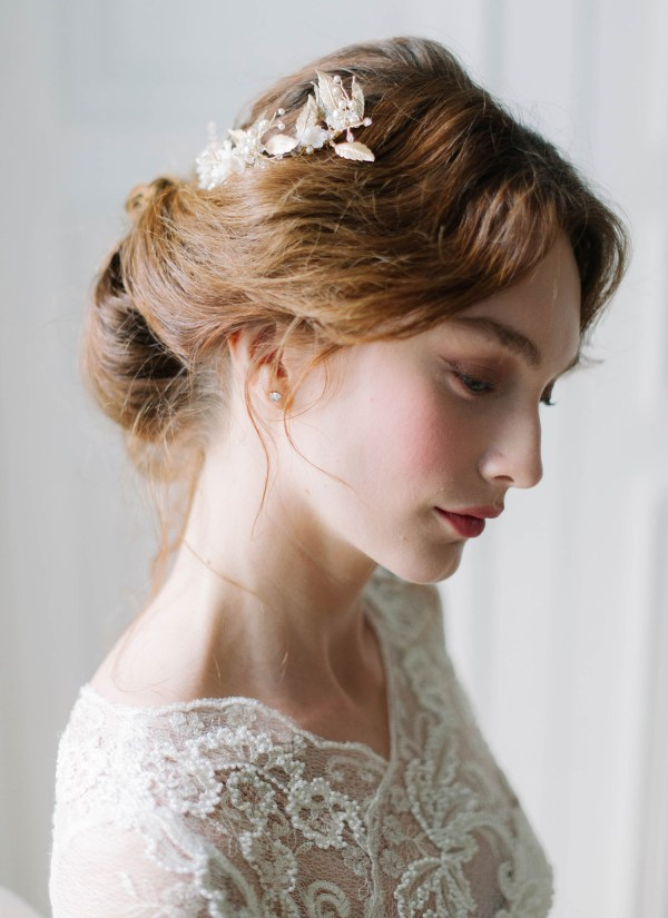 wedding hair piece, bridal hair piece