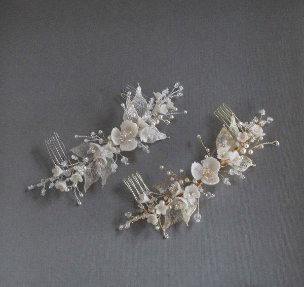 bridal hair clip, wedding hair clip