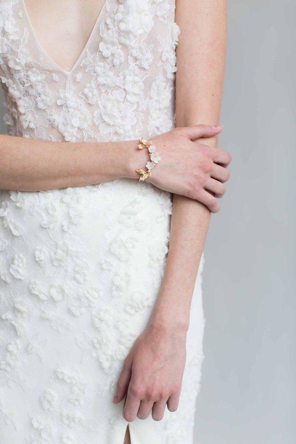Bridal bracelet, bridal cuff bracelet