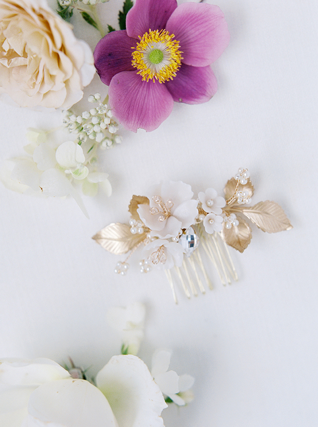 wedding hair comb, bridal hair comb, hair slide