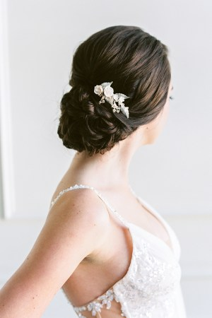 side wedding comb, bridal hair slide