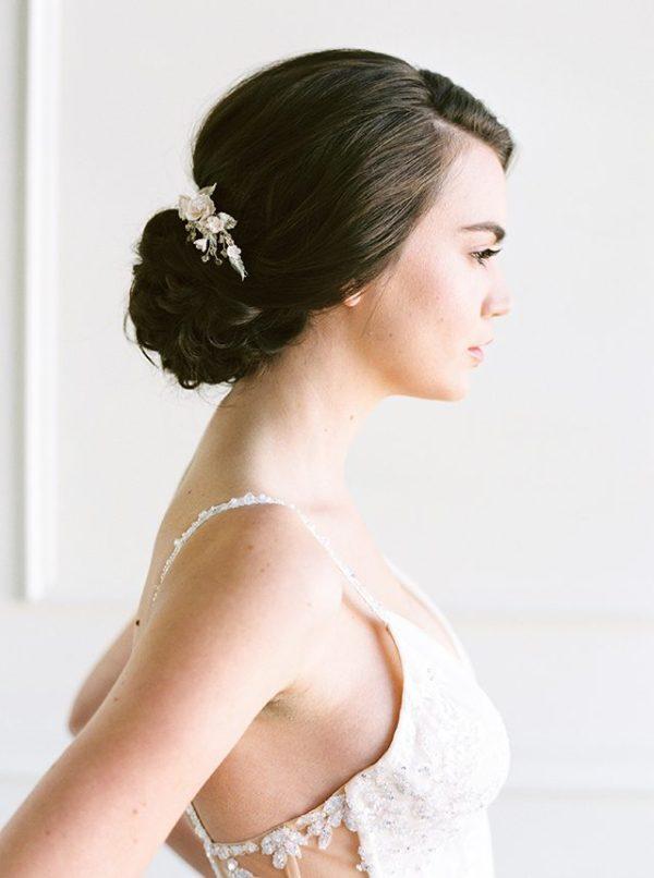 side wedding comb, bridal hair slide